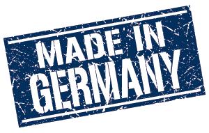Made in Germany-Stempel in blau